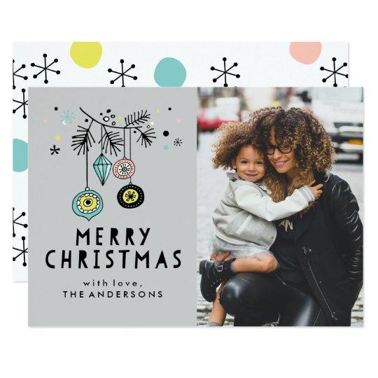 Rétro carte photo de vacances de Noël |