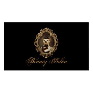 Rétro carte royale noire de salon de beauté de carte de visite standard