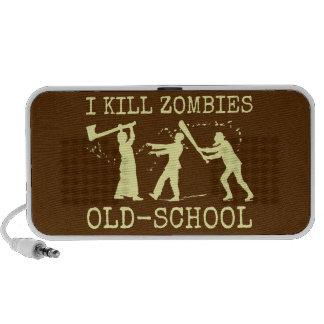 Rétro chasseur drôle de tueur de zombi de vieille haut-parleur mp3