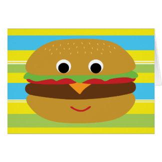 Retro Cheeseburger Karte