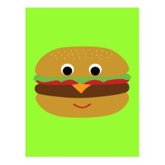 Retro Cheeseburger Postkarte