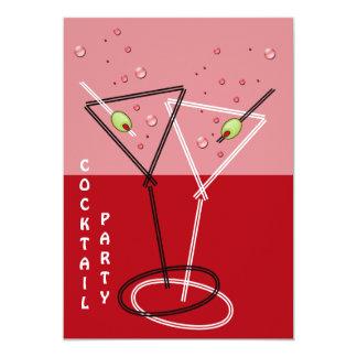 retro Cocktail-Party Einladung