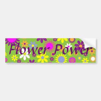 Rétro concepteur floral gai de flower power autocollant de voiture