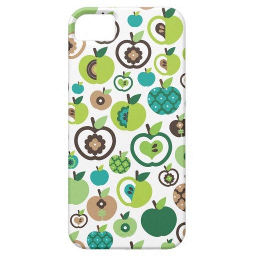Rétro conception mignonne de motif de fleur de pom iPhone 5 case