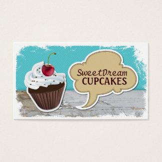 Retro coole Kuchen-Bäckerei-Geschäfts-Karten Visitenkarten