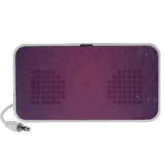 Rétro couleur solide vintage du pourpre mini haut-parleurs