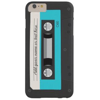 Rétro coutume drôle d'enregistreur à cassettes de coque barely there iPhone 6 plus