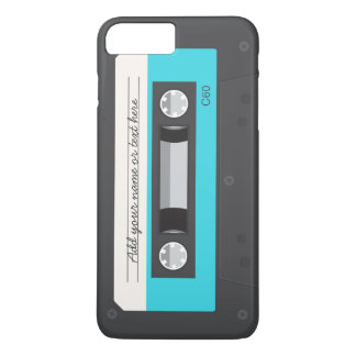 Rétro coutume drôle d'enregistreur à cassettes de coque iPhone 7 plus