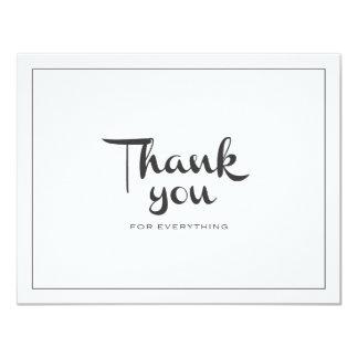 Retro danke doppelseitig 10,8 x 14 cm einladungskarte