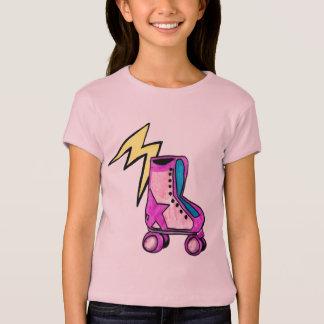 Retro das Rollerskate des jugendlichen Mädchens T-Shirt
