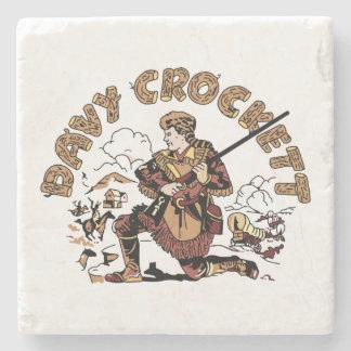 Retro Davy Crockett Steinuntersetzer