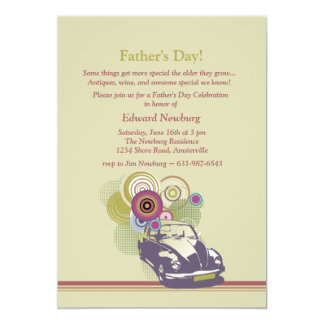 Retro der Vatertags-Einladung Auto- 12,7 X 17,8 Cm Einladungskarte