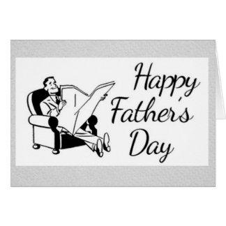 Retro der Vatertags-Vati im Lehnsessel Grußkarte