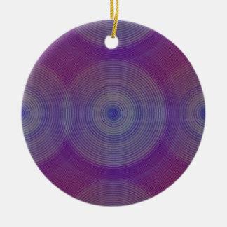 Retro Design Violet und Purpur Psychedelisch 60er Keramik Ornament