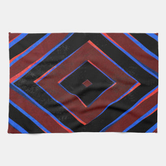 Retro Diamant formt Muster Handtuch