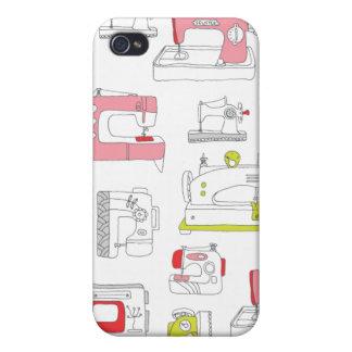 Rétro do-it-yourself motif vintage de filles de la étui iPhone 4