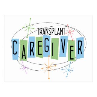 Retro Entwurf Transplantations-Pflegekraft Postkarte
