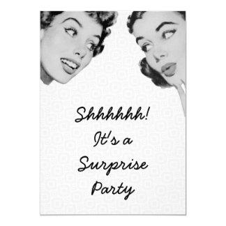 Retro erklären Sie Überraschungs-Party 12,7 X 17,8 Cm Einladungskarte
