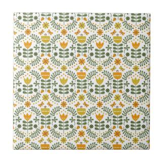 Retro europäische Blumen Kleine Quadratische Fliese