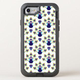Retro exotischer Pfau Indiens OtterBox Defender iPhone 8/7 Hülle