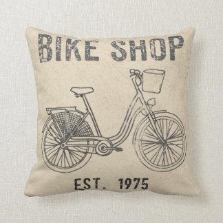 Retro Fahrrad-Geschäfts-Kissen Kissen
