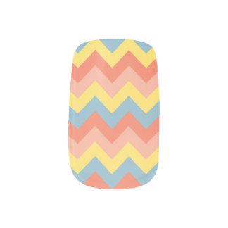 Retro Farbe Zickzack Minx Nagelkunst