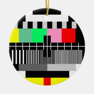 Retro Farbfernsehtestschirm Keramik Ornament