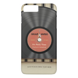 Retro Felsen-Vinyl-LP-Aufzeichnung iPhone 7 Plus Hülle
