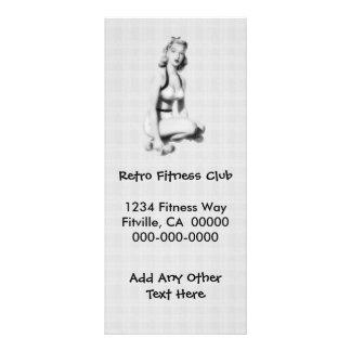 Retro Fitness B/W Werbekarte