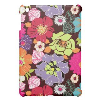 Rétro floral de PixDezines Alegre, monogramme Coques iPad Mini