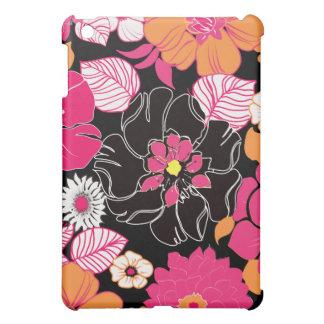Rétro floral de PixDezines Alegre, monogramme Étui iPad Mini