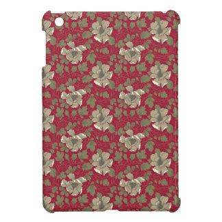 Rétro floral rouge coques pour iPad mini