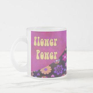 Rétro flower power super 60s les années 70 mug en verre givré