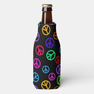 Retro Friedenszeichen-Muster Flaschenkühler