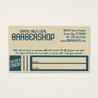 Retro Friseursalonempfehlungsprogramm Visitenkarten