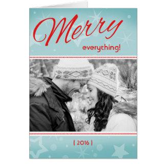Retro fröhliches alles faltete Weihnachtskarte Karte