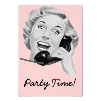 Retro Fünfzigerjahre Geburtstags-Party V2 8,9 X 12,7 Cm Einladungskarte
