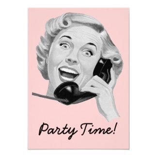 Retro Fünfzigerjahre Party Einladungskarten