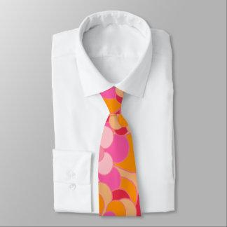 Retro Gänseblümchen-Blumen. orange, rot, gelb, Personalisierte Krawatten