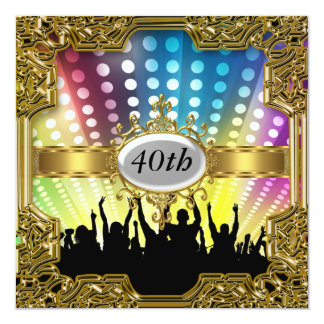 Retro Geburtstags-Party-Glamour-heiße Einladung