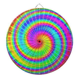 Retro gefärbte KrawatteHippie psychedelisch Dartscheibe