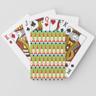 Retro geometrische Spielkarten Sankt