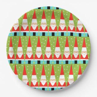 Retro geometrischer SanktpapierTeller Pappteller