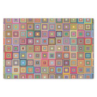 Retro geometrisches Fliesen-Muster Seidenpapier