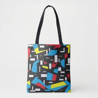 retro geometrisches Muster des 80ers 90s Tasche