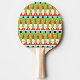 Retro geometrisches Sankt-Klingeln Pong Paddel Tischtennis Schläger