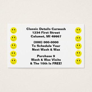 Retro Geschäfts-Lochkarte-glückliches Visitenkarten
