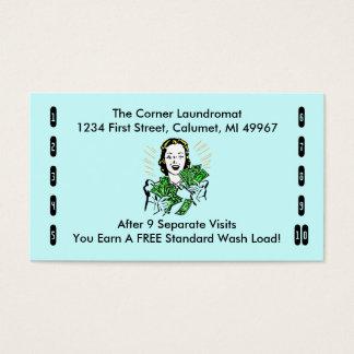 Retro Geschäfts-Lochkarten irgendein glückliches Visitenkarten