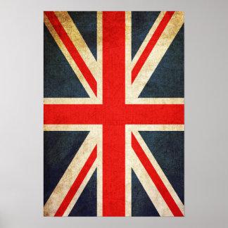 Retro Gewerkschafts-Jack-britisches Flaggen-Plakat Poster
