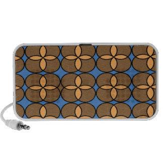 Rétro griffonnage de cercles haut-parleur mobile
